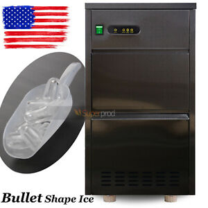 120lbsday Large Commercial Stainless Steel Ice Maker Auto Bullet Machine 110V
