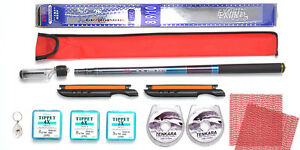 Tenkara Style 10ft rod CS with Furled Tapered leader Line Winder Tippet Kit2