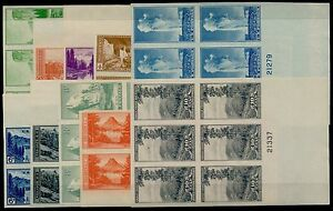 #756 765 PLATE # BLOCKS OF 6 XF COMPLETE SET OF 10 CV $274.25 BQ5041