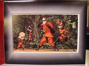 The Incredibles Disney Lithograph $15.00