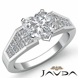 Elegant Heart Diamond Designer Engagement Ring GIA I Color SI1 Platinum 1.78 ct