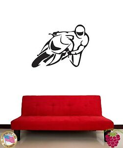 Wall Sticker Bike Motorcycle Extreme Sport for Living Room z1350