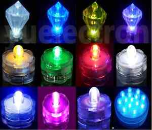 12 24 36 Led Submersible Waterproof Wedding Floral Decoration Party Tea Light