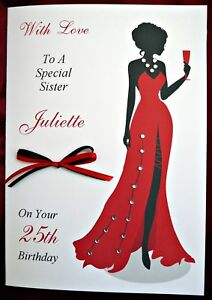 Personalised Handmade Birthday Card - 18th, 21st ,25th, 30th, 40th, 50th 1554RP