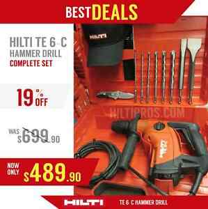 HILTI TE 6 C HAMMER DRILL, NEW, MADE IN EUROPE, FREE BITS, CHISELS, FAST SHIP