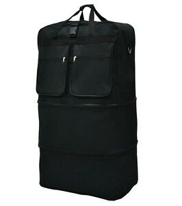 40quot; Black Rolling Wheeled Duffle Bag Spinner Suitcase Luggage Expandable
