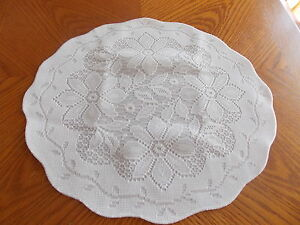 HERITAGE LACE WHITE REGENCY SET OF 4 LINED BACK PLACEMATS ITEM 6073