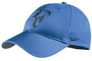 New Nike RF Roger Federer Hat Cap Blue  Armory Navy Tennis  Dri Fit 371202-441
