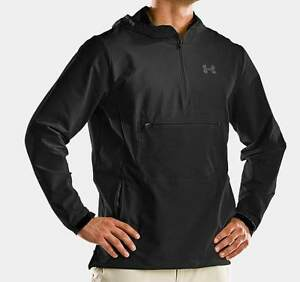 UA UNDER ARMOUR 1205776-001 MEN'S HIGH TIDE SOFTSHELL HOODY JACKET BLACK NWT
