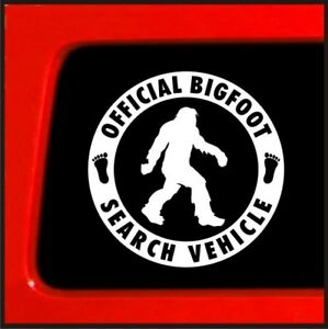 Official Bigfoot Search Vehicle - Sticker Vinyl Decal Sasquatch car truck yeti