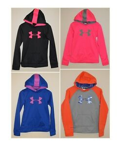 Youth Girls Under Armour Big Logo Hoodie *Multiple Sizes~Colors*Sparkly~Glittery