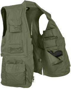 Green Police Undercover Tactical Plainclothes Concealed Carry Travel Vest 8567 #