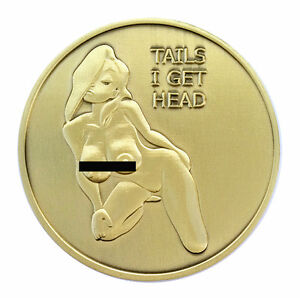 PinUp Heads and Tails Good Luck Challenge Coin US SELLER FAST SHIPPING