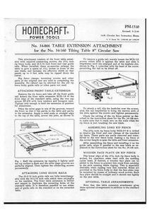 Delta Rockwell 34866 Table Extension Attachment 34160 Tilting Table 8quot; Saw $17.99