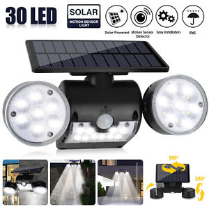 Solar Motion Sensor Detector Home Security Light Flood Guardian Torch Spotlight