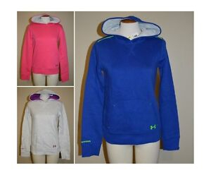 Youth Girls Under Armour CC Storm ColdGear Logo Hoodie~PinkBlueGray~Many Sizes