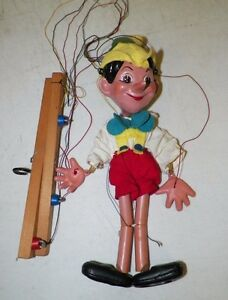 vintage marionette string puppet pinocchio