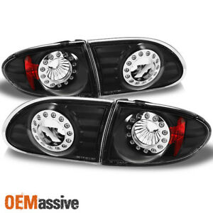 Fit 95 02 Chevy Cavalier LED Black Tail Lights Repalcement 4pcs LR