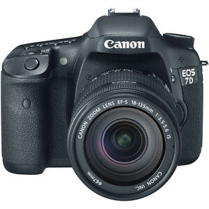 Canon EOS 7D 18.0 MP Digital SLR Camera - Black (Kit w EF-S IS 18-135mm Lens)