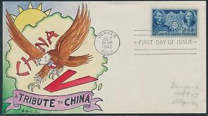 #906 RARE HANDPAINTED  FOR WEIGAND FDC DESIGN CACHET