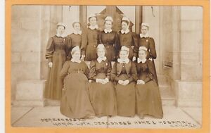 Real Photo Postcard RPPC Norwegian Lutheran Deaconess Home & Hospital Chicago