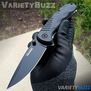 BLACK SPRING TACTICAL RESCUE Assisted Open Folding Blade Pocket Knife TAC-FORCE