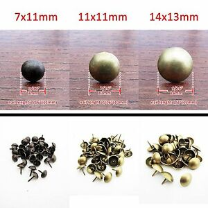 25-500pc Antique Brass Upholstery Nail Jewelry Gift Box Decorative Tack M1100 QL