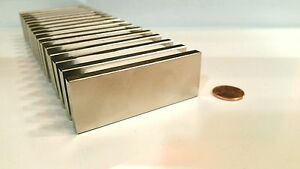 "N52 Large 3"" Neodymium Block Magnet Super Strong Rare Earth Pull Force 65 lbs $14.99"
