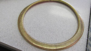 Beautiful 17 inch 14k Gold Flex Chain Necklace Must See Made in Italy Make Offer