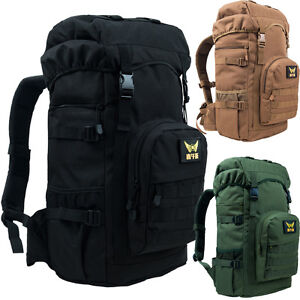 55L Waterproof Outdoor Sports Travel Backpack Military Tactical 17