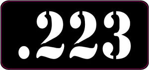 BLACK  WHITE .223 AMMO CAN LABELS SET OF 4