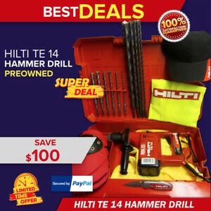 HILTI TE 14 HAMMER DRILL, MADE IN GERMANY, FREE DRILL BITS & MORE, FAST SHIPPING
