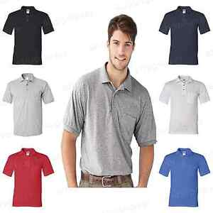 Gildan DryBlend Mens Polo Sport Shirt with a Pocket Jersey T-Shirt S-5XL 8900 PI
