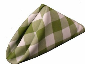 Set Napkins Polyester Checkered 15 X 15 Inch 6 Units By Broward Linens