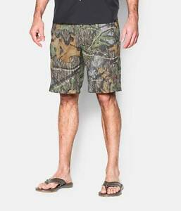 Under Armour Mens UA Fish Hunter Camo Shorts - NWT 1257516 (Mossy Oak Obsession)