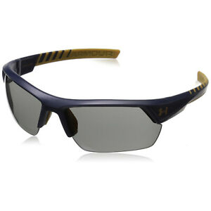 Under Armour UA Igniter 2.0 Satin Navy Frame Gray Lens Men's Sunglasses