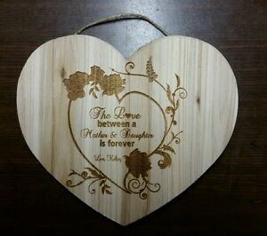 Personalized Heart Sign for Special Mother daughter Mother's Day Birthday gift