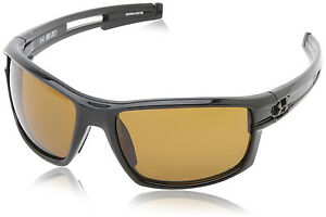 Under Armour UA Captain Sunglasses Shiny Black  Brown Polarized Lens ANSI Z87.1