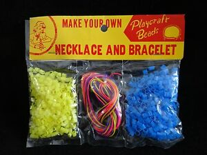 vtg 60s dime store craft toy beads make your
