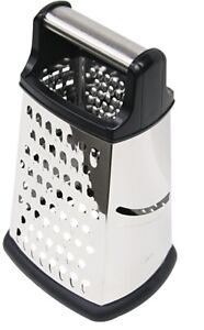 Home Basics NEW Black and Stainless Steel Strong 4 Sided Cheese Grater - CG10361