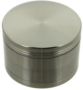 2.5quot; Tobacco Herb Grinder Spice Herbal 4 PC Metal Chromium Alloy Smoke Crusher