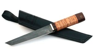 Russian Xv5 fixed blade vorsma Hunting tactical japanese knife Tanto Birch