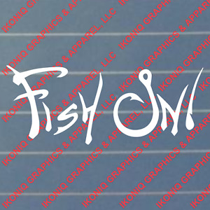 Fish On Decal hunting duck fishing truck sticker