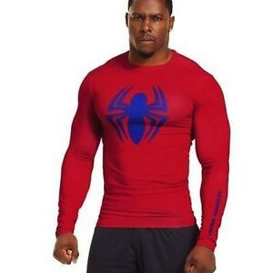 Under Armour Alter Ego Spiderman Compression Long Sleeve Shirt 1251591 NWT