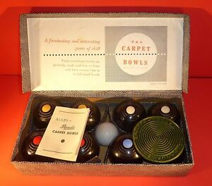 b a bowls indoor carpet game complete w box