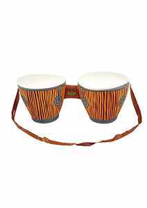 5x Inflatable Bongo Drums With Strap Beach Party Fun