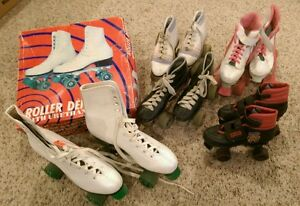 lot of roller skates 5 pairs roller derby he man