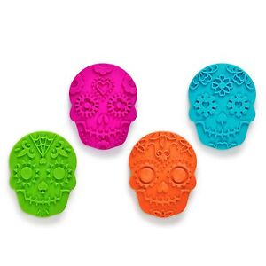 FRED Sweet Spirits Sugar Skull Cookie Cutters and Stampers Mold Halloween Party $10.95