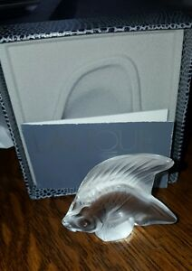 LALIQUE CRYSTAL CLEAR FISH #3000000 BRAND NIB FRENCH WATER PARIS $89.00