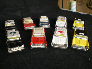 lot of 9 cragstan tin friction toy vehicles